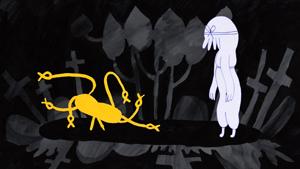 Muki And Kalju Have A Graveyard Adventure